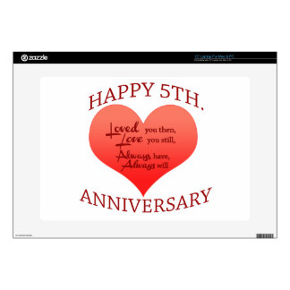 """5th. Anniversary Skin For 15"""" Laptop"""