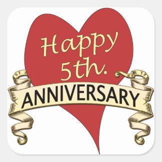 5th. Anniversary Square Sticker