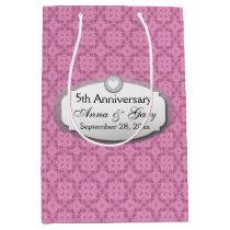 5th Anniversary Wedding Anniversary Z21 Medium Gift Bag