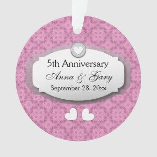 5th Anniversary Wedding Anniversary Z21 Ornament
