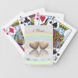 5th Anniversary Wooden Hearts Bicycle Playing Cards