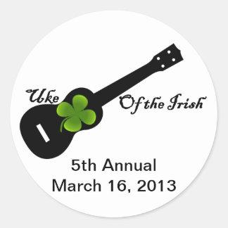 5th annual Uke Of The Irish Classic Round Sticker