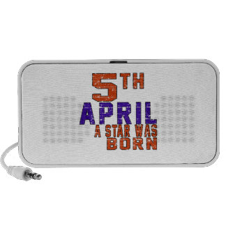 5th April a star was born iPhone Speaker