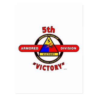 """5TH ARMORED DIVISION """"VICTORY"""" DIVISION POSTCARD"""