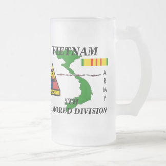 5th Armored Division Vietnam Frosted Mug