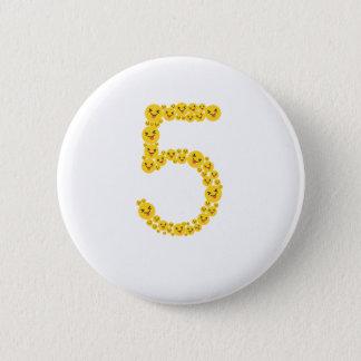 5th Birthday 2012 Emoji Funny Cute for Kids Button