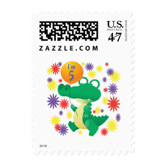 5th Birthday Alligator Stamp