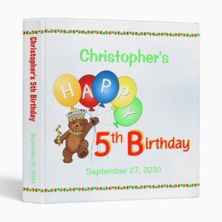 5th Birthday Bears Memory Album 1 Inch Binder