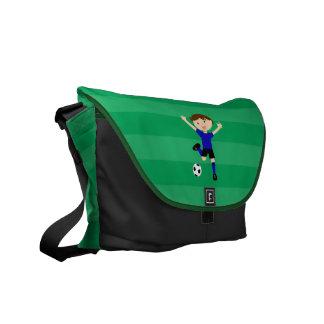 5th Birthday Blue and Black Soccer Goal Bag