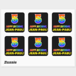 [ Thumbnail: 5th Birthday: Bold, Fun, Simple, Rainbow 5 Sticker ]
