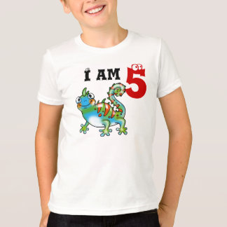 5th birthday boy gift (funny lizard) T-Shirt