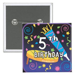 5th Birthday Button
