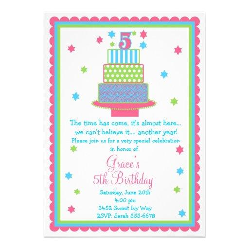 Th Birthday Invitation Wording Putputinfo - Birthday invitation wording turning 5