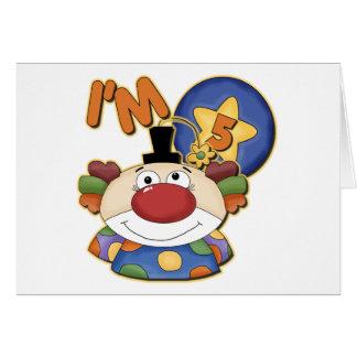 5th Birthday Clown Birthday Card