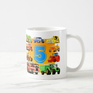 5th Birthday Construction Truck Coffee Mug