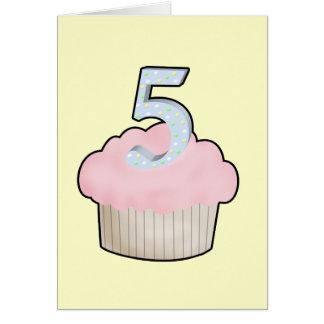 5th Birthday Cupcake Cards