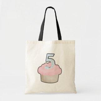 5th Birthday Cupcake Tote Bag