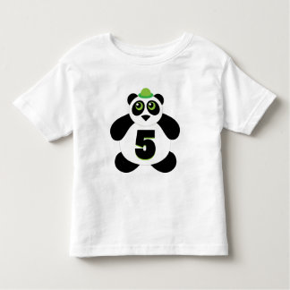 5th Birthday Cute Panda Toddler T-shirt