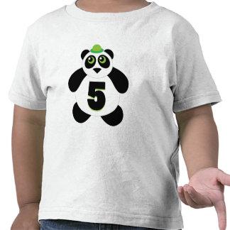 5th Birthday Cute Panda Tshirt