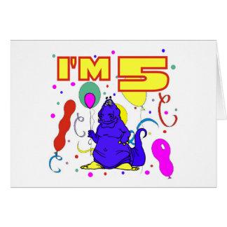 5th Birthday Dinosaur Birthday Card