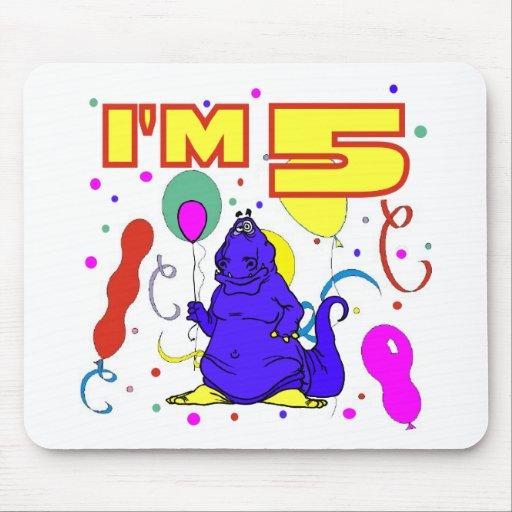 5th Birthday Dinosaur Birthday Mouse Pad