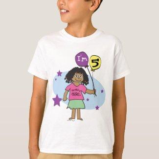 5th Birthday Ethnic Girl