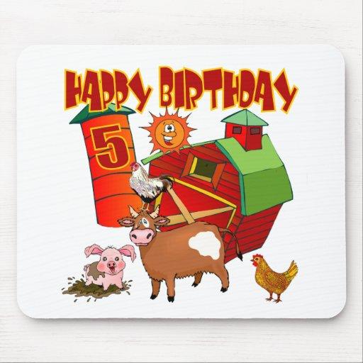 5th Birthday Farm Birthday Mouse Pad