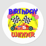 5th Birthday Gift Classic Round Sticker