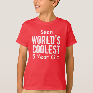 5th Birthday Gift World's Coolest 5 Year Old v11 T-Shirt
