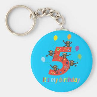5th Birthday Gifts ( Five Years) Basic Round Button Keychain