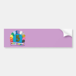 5th Birthday Gifts with Assorted Balloons Design Bumper Sticker