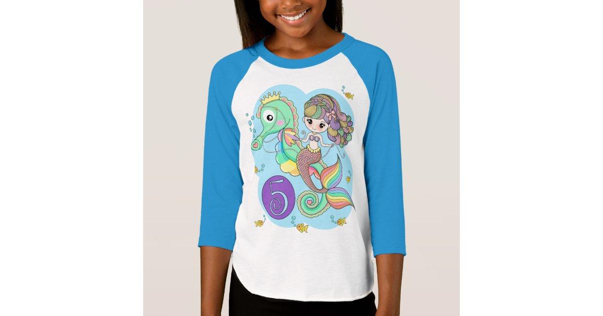 5th Birthday Mermaid T Shirt