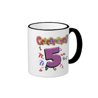 5th Birthday Ringer Coffee Mug