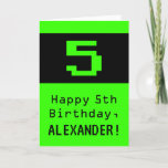 """[ Thumbnail: 5th Birthday: Nerdy / Geeky Style """"5"""" and Name Card ]"""