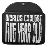 5th Birthday Parties Worlds Coolest Five Year Old MacBook Pro Sleeve