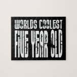 5th Birthday Parties Worlds Coolest Five Year Old Jigsaw Puzzles