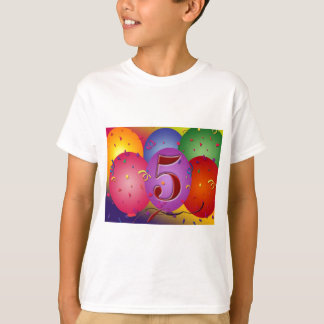5th Birthday Party Balloon decorations T-Shirt