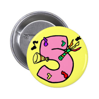 5th Birthday Party Button