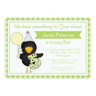 5th Birthday Party Invitations Birthday Crow