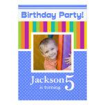 5th Birthday Party Invitations Fun Neon Boy