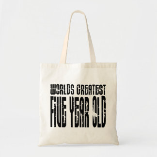 5th Birthday Party Worlds Greatest Five Year Old Tote Bag