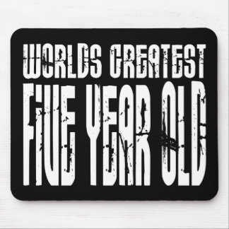 5th Birthday Party Worlds Greatest Five Year Old Mouse Pad