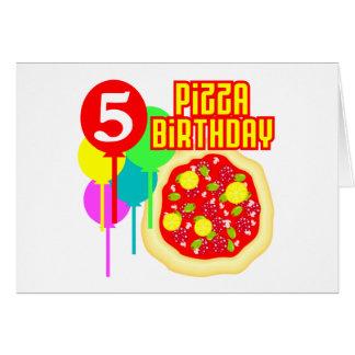 5th Birthday Pizza Birthday Card