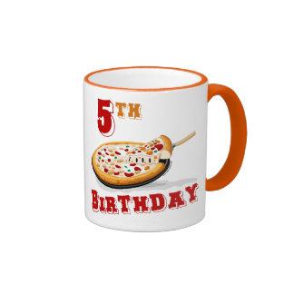 5th Birthday Pizza Party Ringer Coffee Mug