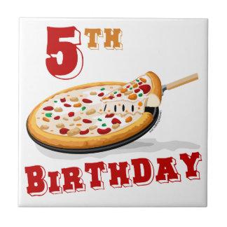5th Birthday Pizza Party Ceramic Tiles