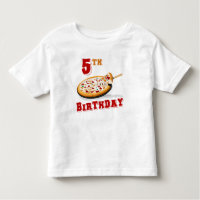 5th Birthday Pizza Party Toddler T-shirt