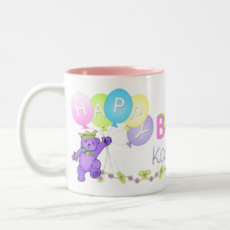 5th Birthday Princess Bear Happy Coffee Mug