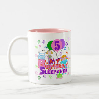 5th Birthday Sleepover Two-Tone Coffee Mug