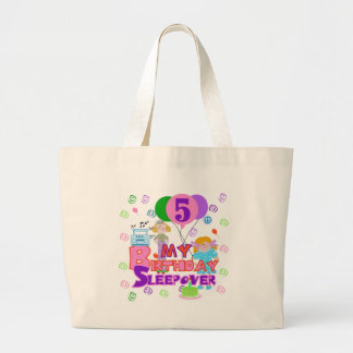 5th Birthday Sleepover Tshirts and Gifts Large Tote Bag