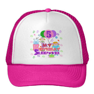5th Birthday Sleepover Tshirts and Gifts Trucker Hat